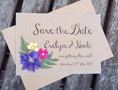 Floral Save the date Wedding Invitation. Boho by FromLeoniWithLove