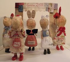 Julie Arkell - paper mache' dolls that spark the imagination.