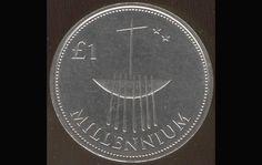 Irish commemorative millennium pound coin