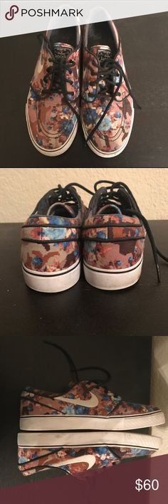 Nike SB Stefan Janoski Blue Digi Floral Camo Original owner of these, worn a handful of times. They need a good cleaning but in good shape other than the inside logo has been worn off. Men's size 8, fits a women's 9. Nike Shoes Sneakers