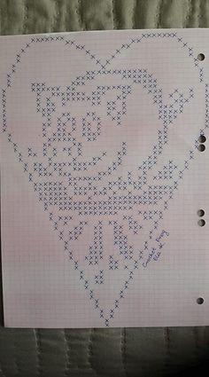 Crochet Chicken, Crochet Pig, Fillet Crochet, Thread Crochet, Crochet Doilies, Crochet Poncho Patterns, Cross Stitch Patterns, Crochet For Beginners Headband, Heart Diagram