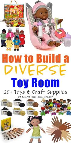 How to Build a Diverse Playroom - HAPPY TODDLER PLAYTIME Speech Therapy Activities, Infant Activities, Activities For Kids, Indoor Activities, Educational Toys For Kids, Kids Toys, Baby Toys, E Craft, Toy Rooms