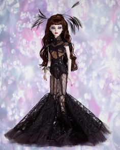 Black Diamond Evangeline - Resin - Tonner 25th Anniversary Collection - #EvangelineGhastly #WildeImagination #FashionDolls #Tonner25 #TonnerDolls @Tonnerdoll