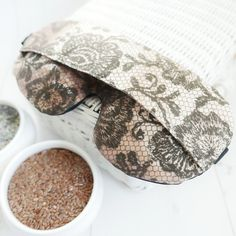 Organic Weighted Eyepatch, Looks Like Lace, Washable Cover,Aromatherapy Lavender Flaxseed, Adjustable Sleep Mask Made by SleepingOwl Heat Bag, Rem Sleep, How To Sleep Faster, Set Cover, Flaxseed, Sleep Mask, Mask Making, How To Fall Asleep, Aromatherapy