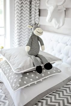 polka dots, stripes and chevron (grey and white)....<3 these three together for one of the girls rooms