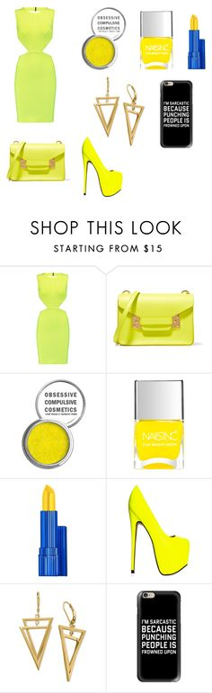 """""""My First Polyvore Outfit"""" by semiherondale ❤ liked on Polyvore featuring Hervé Léger, Sophie Hulme, Obsessive Compulsive Cosmetics, Estée Lauder and Casetify"""