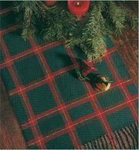 Window Pain Holiday Runner in Log Cabin by Sr. Joan Marie Lovett via handwoven