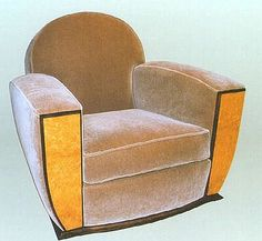 Art deco club chairs original to the 1930's
