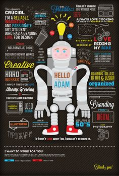 What an awesome, exciting, new and creative way to put together a CV. If you're a designer or artist of some kind, take note... this is GENIUS!
