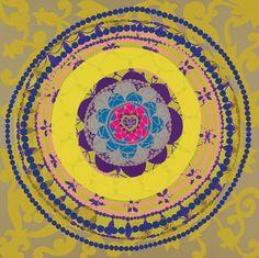 Beatriz Milhazes Brazilian Kaleidoscope print patternBeatriz Milhazes (brazilian artist) via PatternBank