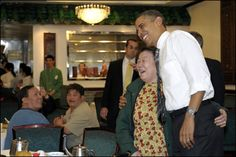 Obama visits SF Chinatown. Look for the lady's hand.