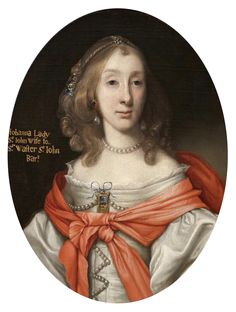 John Michael Wright (British artist, Johanna St John, Wife of Sir Walter St John Woman Painting, Oil Painting On Canvas, 17th Century Fashion, 18th Century, Bonnie Prince Charlie, Family Tree Research, War Novels, Old Portraits, Old Paintings