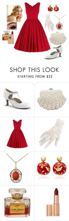 """""""Red Vintage Summer"""" by daughter-of-apollo92 ❤ liked on Polyvore featuring Silvia Furmanovich, Charlotte Tilbury, vintage, Summer, red, summerstyle and summer2017"""