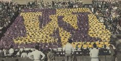 A crowd in Husky Stadium during 1960