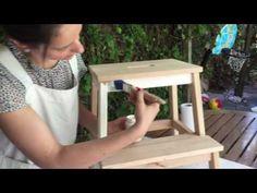 DIY: Transforma Tu Taburete De Ikea Con Papeles Delipapel Y Chalk Paint - YouTube