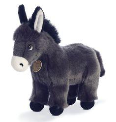 """Miyoni Tots DONKEY FOAL 11"""" Plush Stuffed Farm Animal Aurora NEW #MiyonibyAurora"""