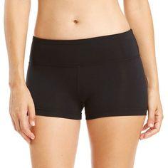 Women's Balance Collection Energy Yoga Hot Shorts, Size: XL, Black