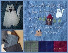 Une écharpe en flanelle pour l'hiver... Verveine et Lin  Modèle Anni Downs