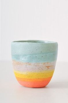 ceramic teacup, by Shino Takeda-The glaze of this cup is very natural and soft. It is cool how it fades together nicely. 1/28