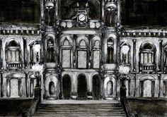 Tintas. Dibujar un edificio carismático de la ciudad en la que vivas. Din A5. 2013