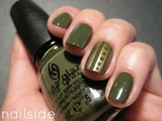 Very cute and subtle. Nailside: Gold Tribal
