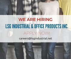 We are in need of Industrial Sales, Account Executive, HR Assistant & Encoders. Please send your CV to careers@lsgindustrial.net. Apply now! #hiring #urgenthiring #lsg