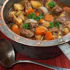 A rich and flavorful Irish Stew recipe made with Guinness stout. Irish Stew Recipe from Grandmothers Kitchen.