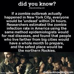 Zombie outbreak... Ohio is said to have a high survival rate,.. :)