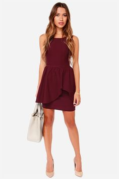 43f6288b617c 35 Great Burgundy dress outfit images