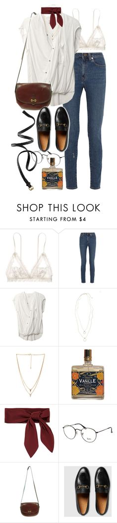 """Untitled #9571"" by nikka-phillips ❤ liked on Polyvore featuring Hanky Panky, Yves Saint Laurent, Helmut Lang, Topshop, Forever 21, Chloé, Ray-Ban, Market, Gucci and H&M"