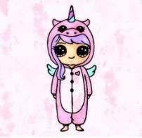 kawaii girl drawing in onsie Kawaii Girl Drawings, Cute Girl Drawing, Kawaii Disney, Cute Kawaii Girl, Kawaii Art, Cute Easy Drawings, Cute Animal Drawings, Chibi, Unicorn Drawing