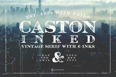 Caston Inked by Unember on @creativemarket