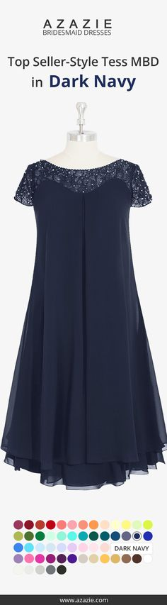 Tess Mbd Is A Knee Length Empire Dress Made Of Chiffon It Also Features