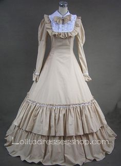 Sweet Two Layers Long Sleeves Gothic Victorian Lolita Dress