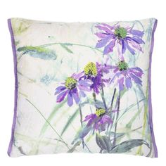 COLOUR, SEMI ABSTRACT - Paysage Amethyst Cushion | Designers Guild