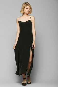 Bohemian Bones Washed Silk Maxi Dress #urbanoutfitters