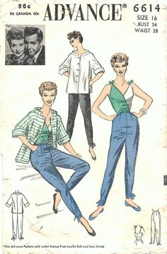 Items similar to Vintage Sewing Pattern, Misses' Top, Size Small on Etsy Vintage Dress Patterns, Clothing Patterns, Vintage Dresses, Vintage Outfits, Vintage Clothing, Retro Fashion, Vintage Fashion, Vintage Style, Patron Vintage