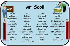 Primary Teaching, Teaching Aids, Primary School, Teaching Resources, Gaelic Words, 6 Class, Irish Language, Irish Celtic, Language Activities