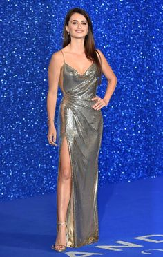 Penelope Cruz was draped in a metallic gown that showed off  her toned body at a special screening of 'Zoolander 2'