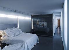 Karl Lagerfeld's ultra-modern Paris apartment - bedroom