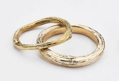 Traditional Wedding Rings in Yellow Gold    Organic Twig by bmjnyc, $1150.00
