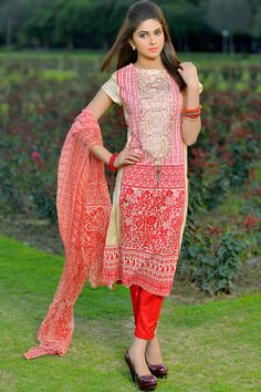 Product code: SUT-0616-LD 3-Pcs Suit SHIRT PRINTED NECK EMBROIDERED, PRINTED CHIFFON DUPATTA, TROUSER PLAIN  Shop Online www.nimsay.pk