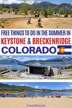 FREE summer activities near Breckenridge and Keystone, Colorado. When you think of a ski resort town, whether summer or winter, you automatically think EXPENSIVE. Well, believe it or not, there are all kinds of summer activities in Summit County Colorado that are absolutely free! #summitcounty #Breckenridgesummer #Keystonesummer #summervacation #colorado #familytravel #familyvacation #travelswitheli Keystone Resort, Keystone Colorado, Colorado Trip, Lake Dillon, Breckenridge Colorado, Summit County, Free Summer, And So The Adventure Begins, Summer Activities