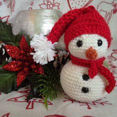 Christmas Toys, Christmas Snowman, Christmas Ornaments, Crochet Snowman, Crochet Bookmarks, Collor, Handmade Items, Handmade Gifts, Yarn Crafts