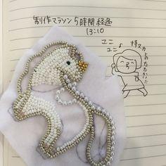 鳩みう子のハンドメイドブログ*キラキラのビーズ刺繍【4コマ/変な恋人(変恋)】-2ページ目