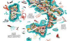 Colorful Map Illustration Designs