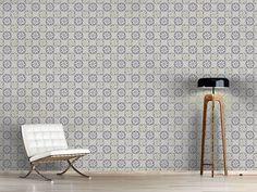 Design #Tapete Kreisel Auf Grau