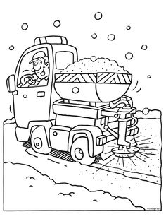 Zoutstrooier Coloring Books, Coloring Pages, Rainy Day Activities, Winter 2017, Printables, Seasons, Templates, School, Kids