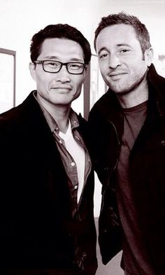 Alex O'loughlin and Daniel Dae Kim from Hawaii Five-0