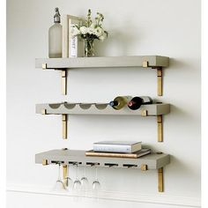 Giana Gray Gold Bar Shelf